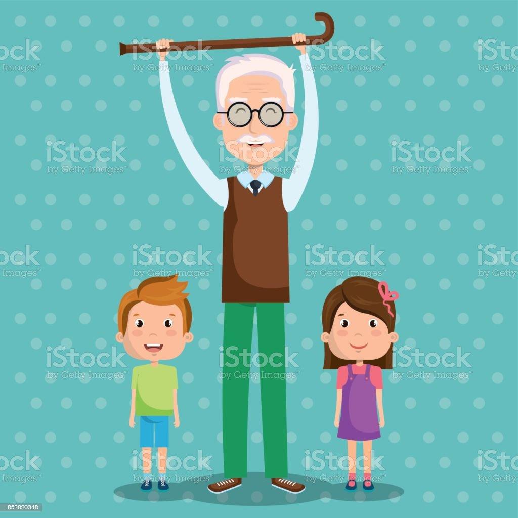 Diseño de día abuelos - ilustración de arte vectorial