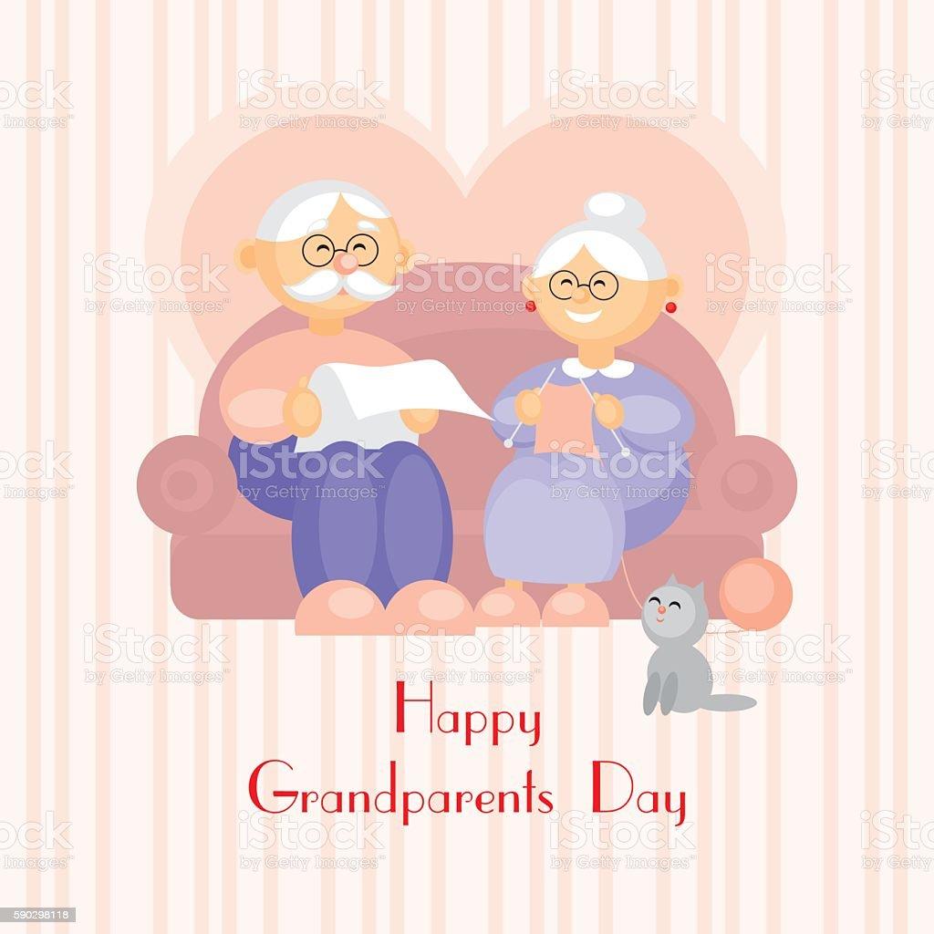 grandparents day greeting card royaltyfri grandparents day greeting card-vektorgrafik och fler bilder på förälders far