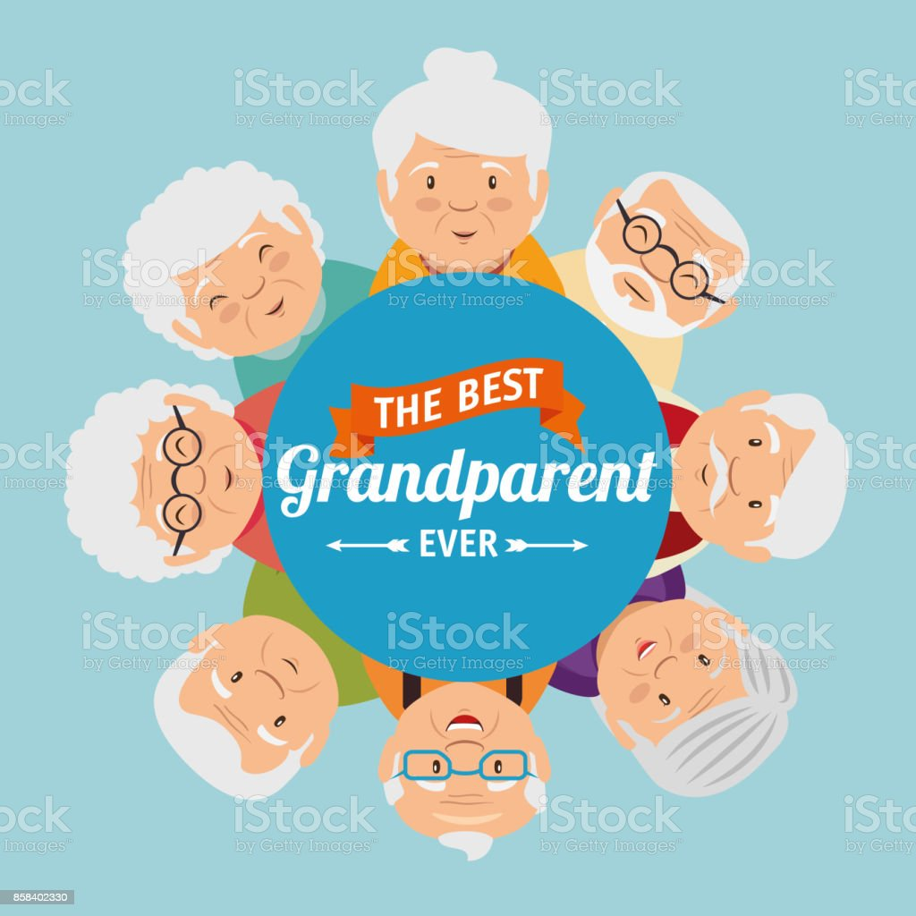 Grandparents day greeting card stock vector art more images of grandparents day greeting card royalty free grandparents day greeting card stock vector art amp m4hsunfo