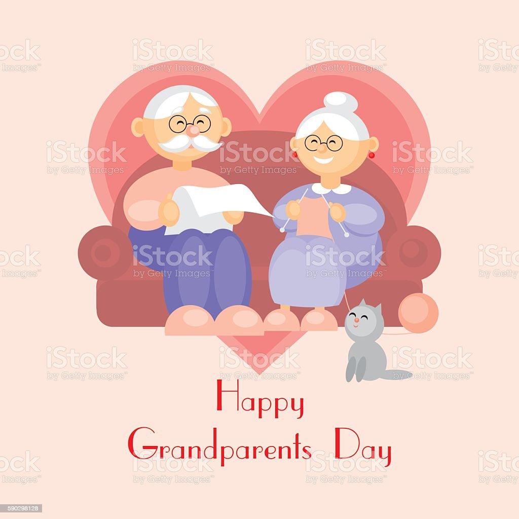 grandparents day greeting royaltyfri grandparents day greeting-vektorgrafik och fler bilder på förälders far