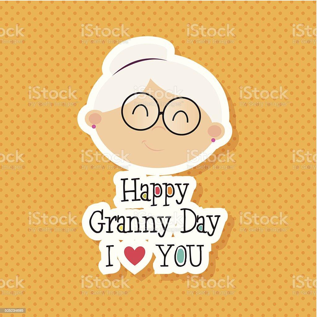 Abuelos día - ilustración de arte vectorial
