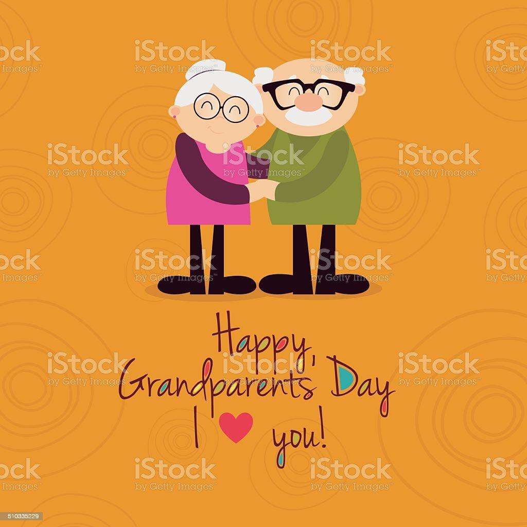 Dia dos avós - ilustração de arte em vetor
