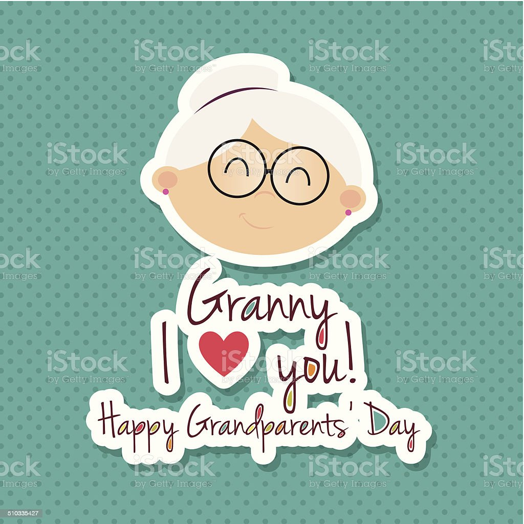 Grandparents day vector art illustration