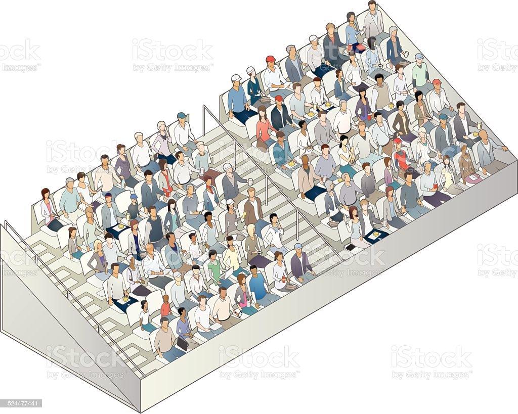 Grandstand Illustration vector art illustration