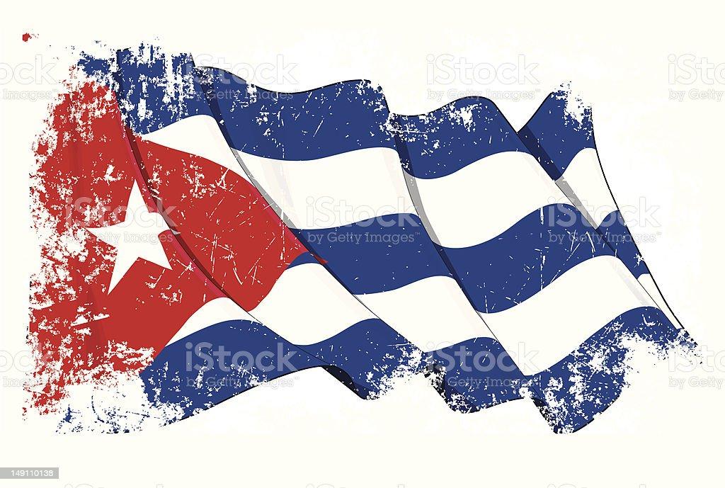 Grange Flag of Cuba vector art illustration