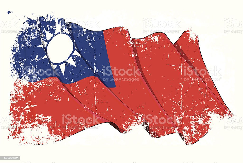Grange Flag of Taiwan royalty-free grange flag of taiwan stock vector art & more images of asia