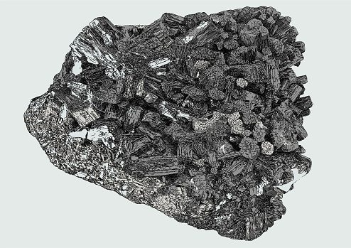 Granite Gemstone. Mineral Chystal