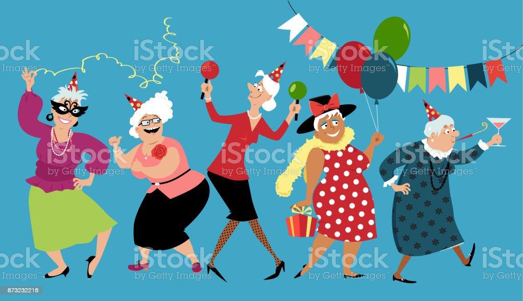 Grannie's birthday vector art illustration