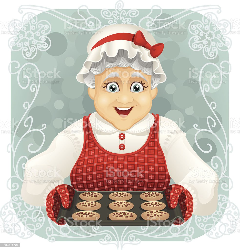 Granny Baked Some Cookies vector art illustration