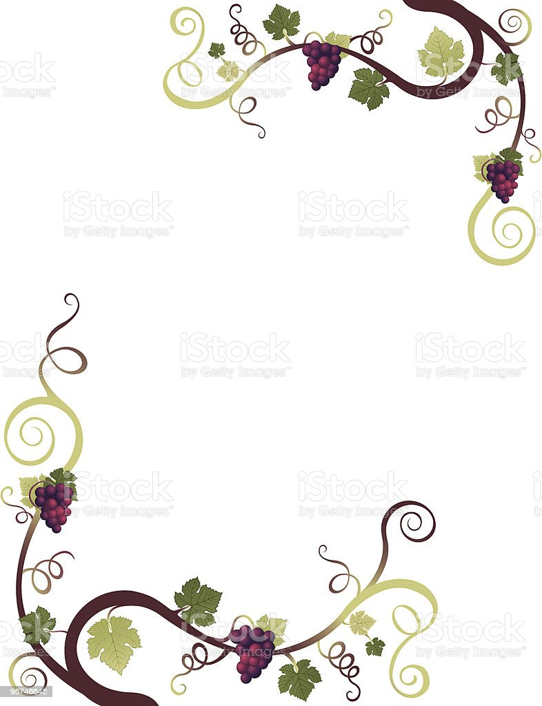 grape border stock vector art more images of abstract 95746642 rh istockphoto com