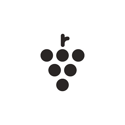 Vector illustration of some minimalistic and flat designed grapes. Cut out design element great as an icon or symbol, poster or background, for social media and online messaging, healthy eating and lifestyles, ketogenic and paleo diets, weight loss, drinks, restaurants and coffee shops, travel, agriculture, industry, business and marketing, presentations and communications, social issues, meetings, celebrations, relationships and friendship, gatherings and holidays.
