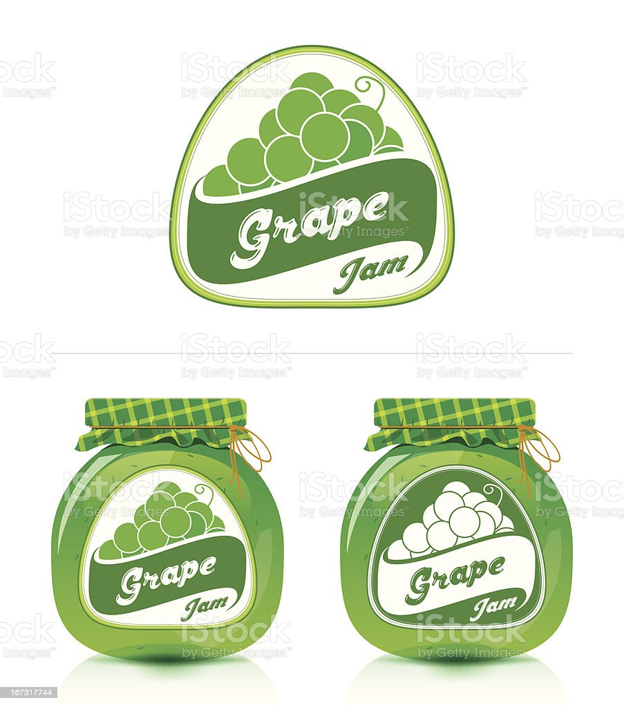 Grape Jam Label With Jar royalty-free grape jam label with jar stock vector art & more images of cartoon