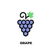 Grape Line Icon