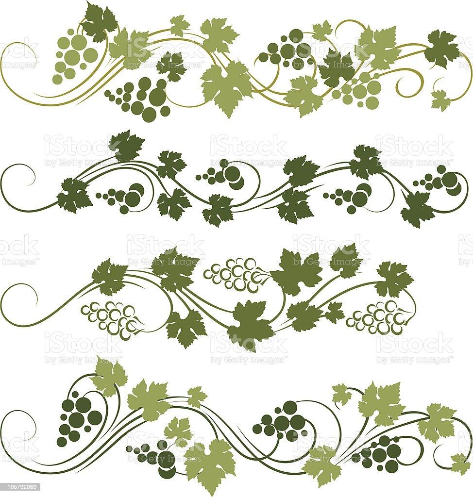 Grape ornament vector art illustration