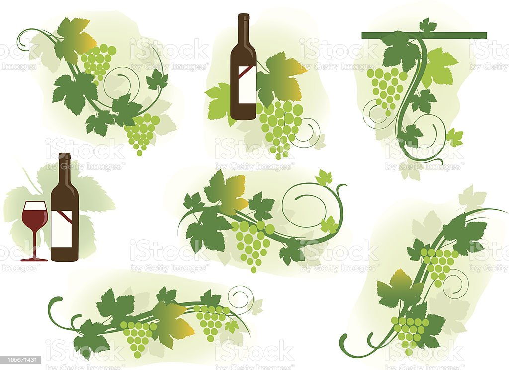 Grape Swirls vector art illustration