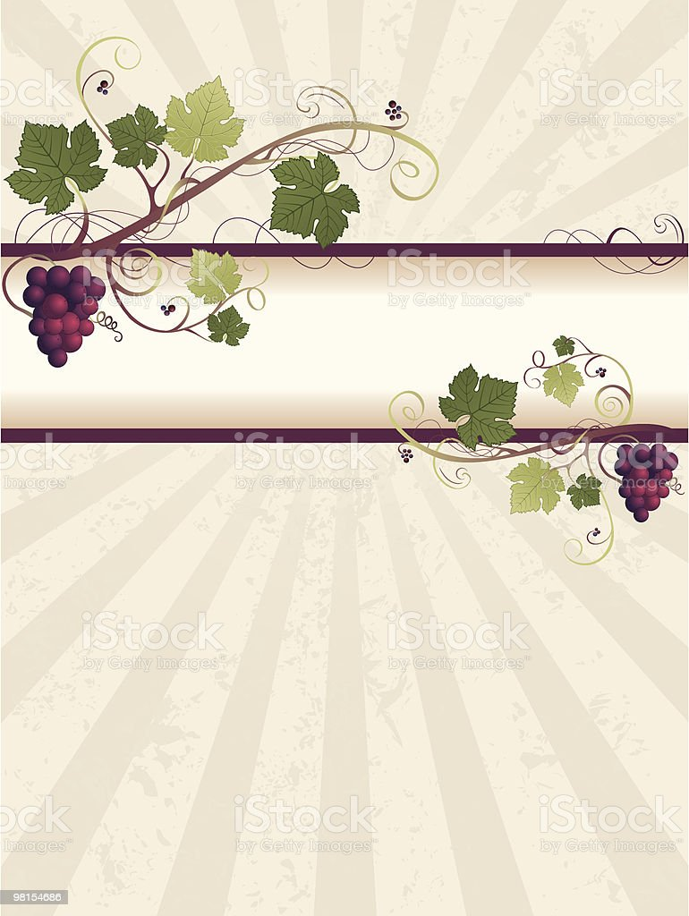 Grape Vine Parchment Background royalty-free grape vine parchment background stock vector art & more images of backgrounds