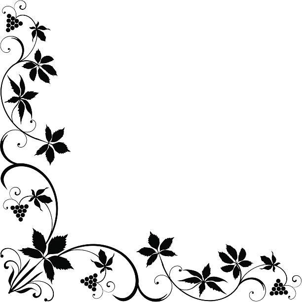 Royalty Free Design Element Corner Vine Clip Art, Vector Images ...