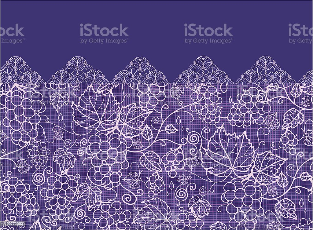 Grape Vines Fabric Texture Horizontal Seamless Pattern Ornament royalty-free grape vines fabric texture horizontal seamless pattern ornament stock vector art & more images of autumn