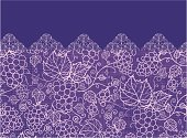 Grape Vines Fabric Texture Horizontal Seamless Pattern Ornament