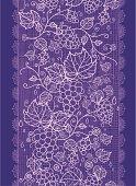 Grape Vines Fabric Texture Vertical Seamless Pattern Ornament