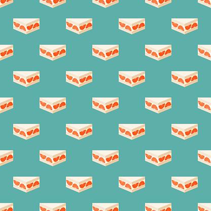 Grapefruit Dessert Japanese Sandwich Pattern