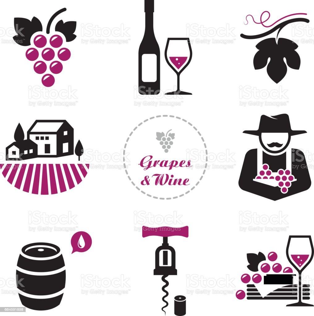Grapes and wine symbol set stock vector art more images of alcohol grapes and wine symbol set royalty free grapes and wine symbol set stock vector art biocorpaavc Gallery