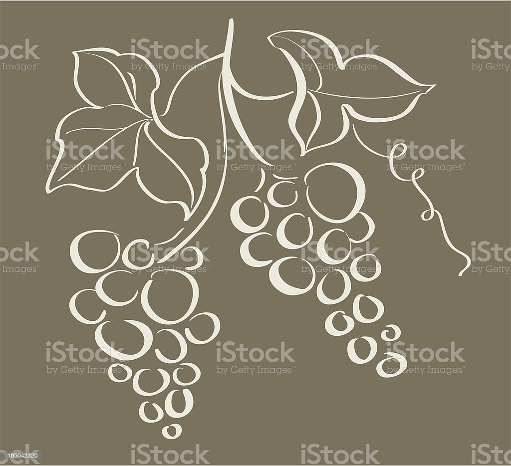 Grapes decoration, VECTOR royalty-free grapes decoration vector stock vector art & more images of art and craft