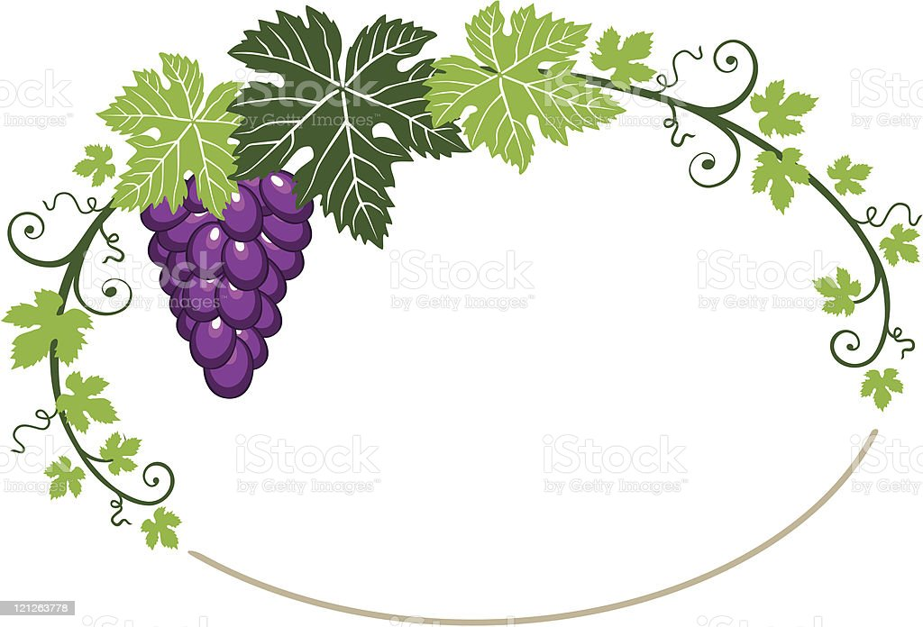 grapes frame with leaves stock vector art 121263778 istock. Black Bedroom Furniture Sets. Home Design Ideas