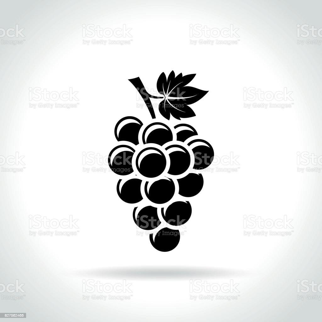 druvor-ikonen på vit bakgrund - Royaltyfri Bunt - Arrangemang vektorgrafik