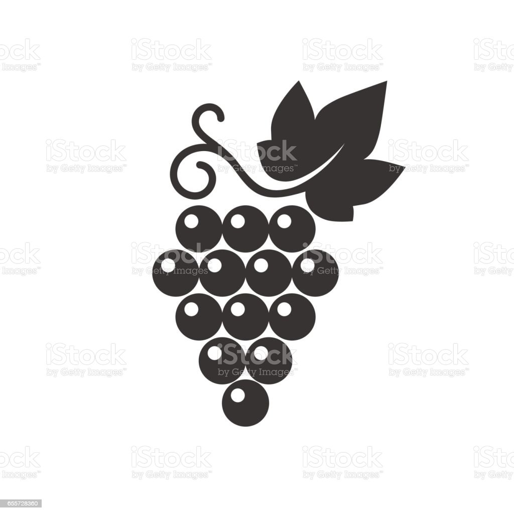 Grapes icon. vector art illustration