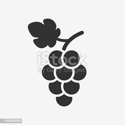 Grapevine with leaf. Fruit pictogram. Vector illustration isolated.