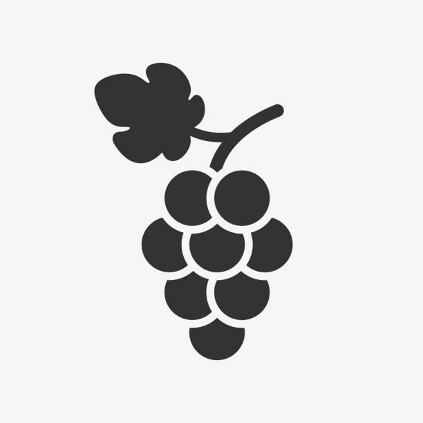 trauben-symbol. wein-logo. - bund stock-grafiken, -clipart, -cartoons und -symbole