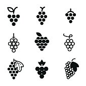 Grapes vector icons.