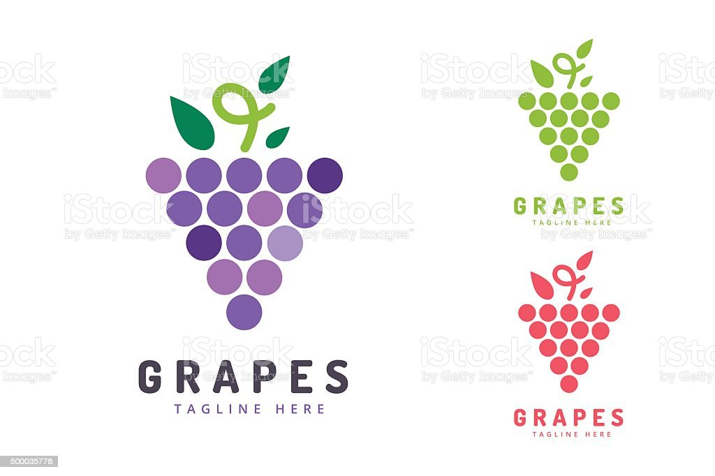 Grapes vector isolated icon vector art illustration