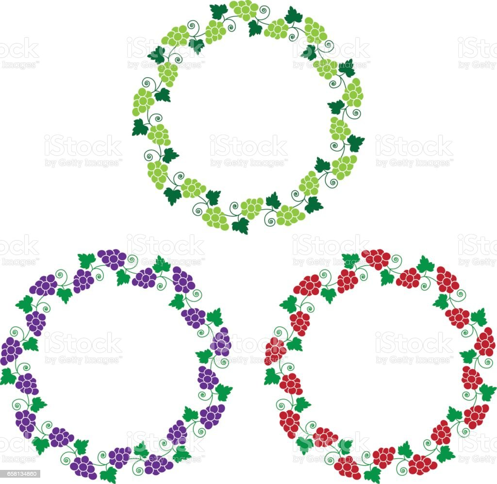 grapevine circle frames royalty-free grapevine circle frames stock vector art & more images of circle