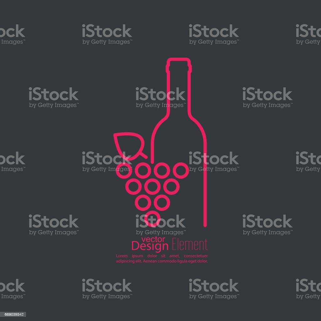 Grapevine feuilles icône. Vectoriel - Illustration vectorielle
