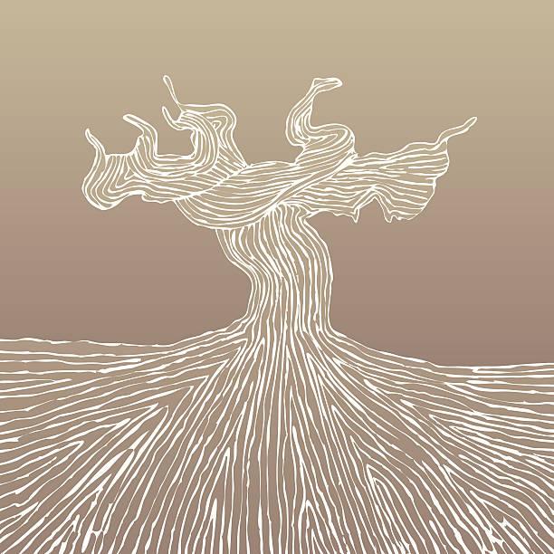 bildbanksillustrationer, clip art samt tecknat material och ikoner med grapevine trunk vector illustration - vineyard