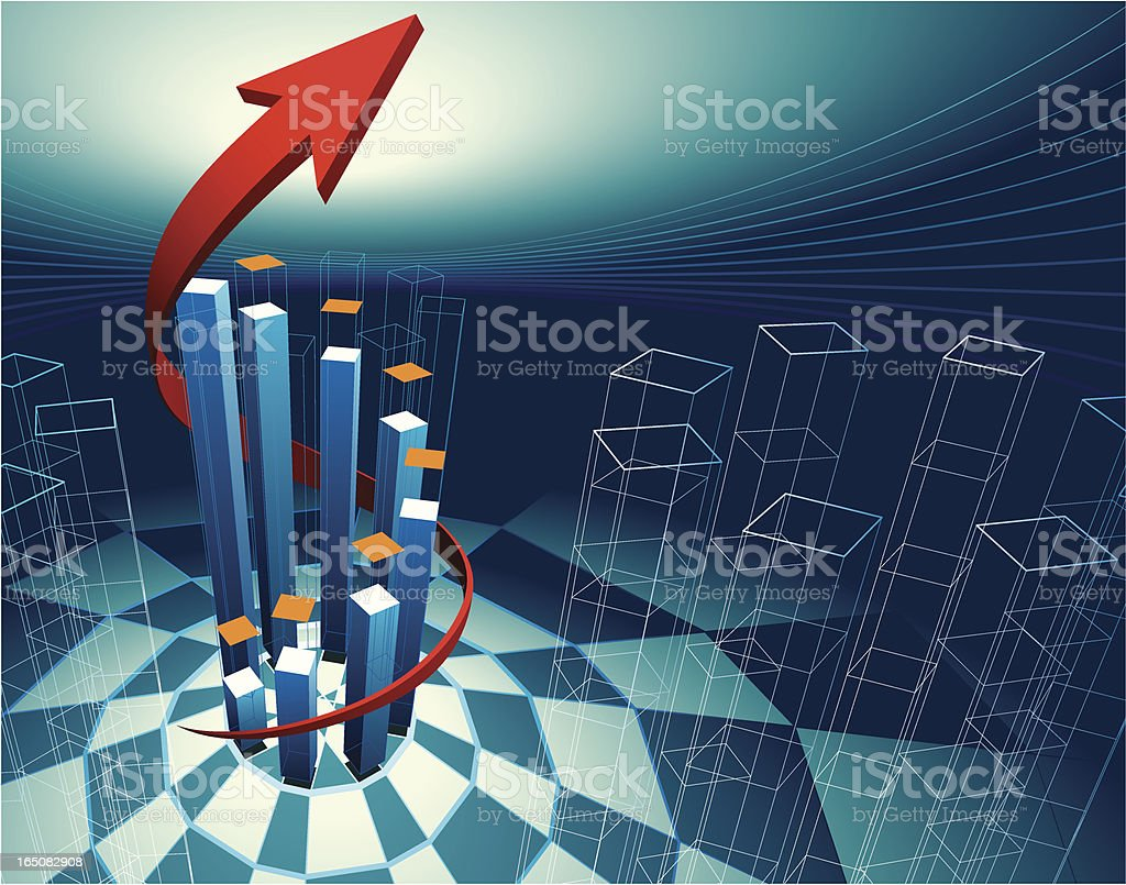 3D graph 5 royalty-free 3d graph 5 stock vector art & more images of analyzing
