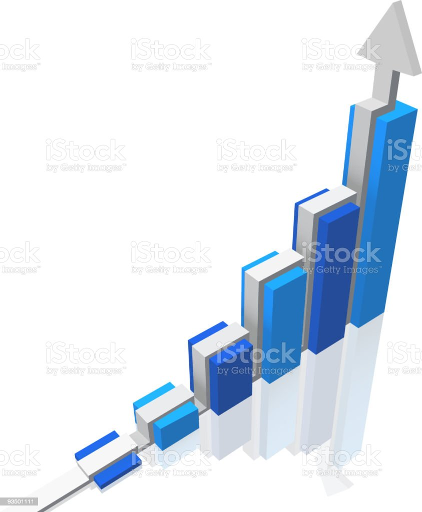 Graph and arrow royalty-free graph and arrow stock vector art & more images of arrow - bow and arrow