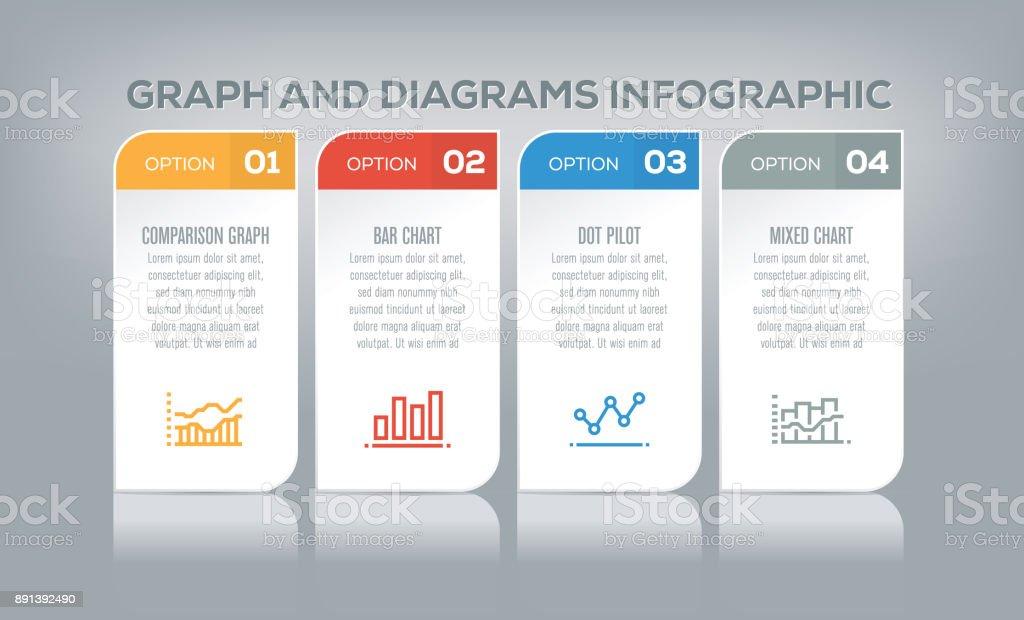 Gráfico y la infografía de diagramas - ilustración de arte vectorial
