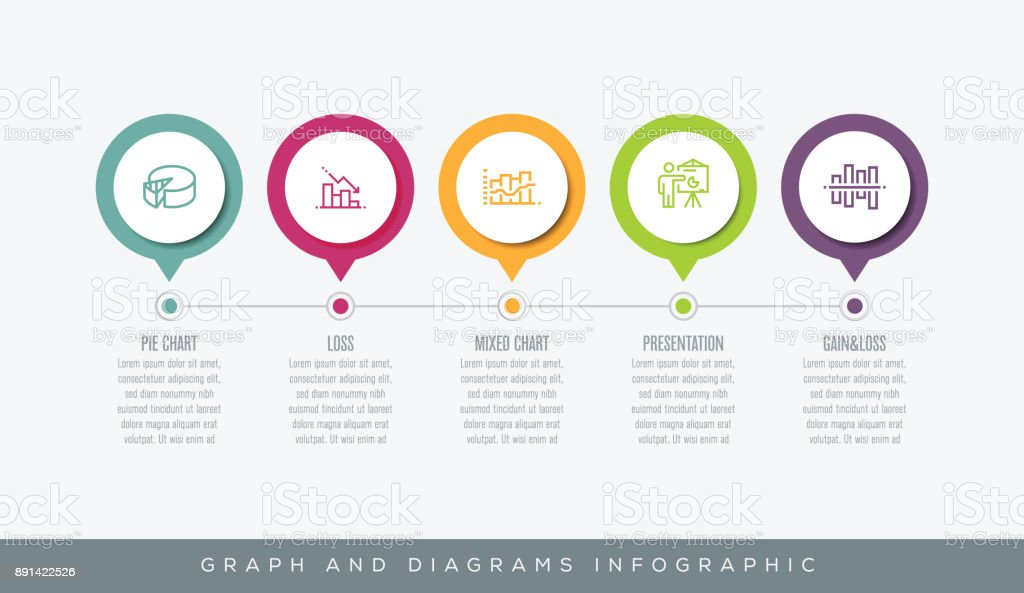 Graph and Diagrams Infographic vector art illustration