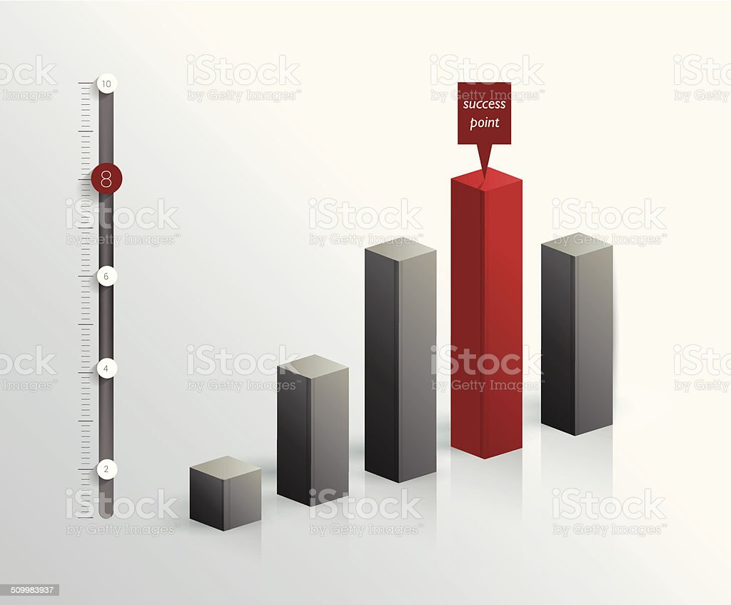 3 D graph für Infografik. – Vektorgrafik