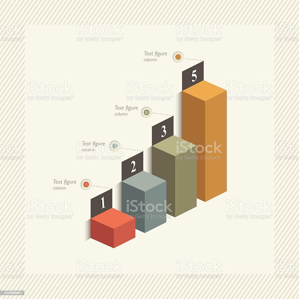 3 D graph für Infografik – Vektorgrafik