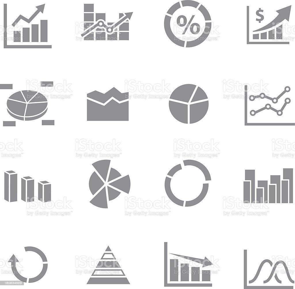 Graph Icon set vector art illustration