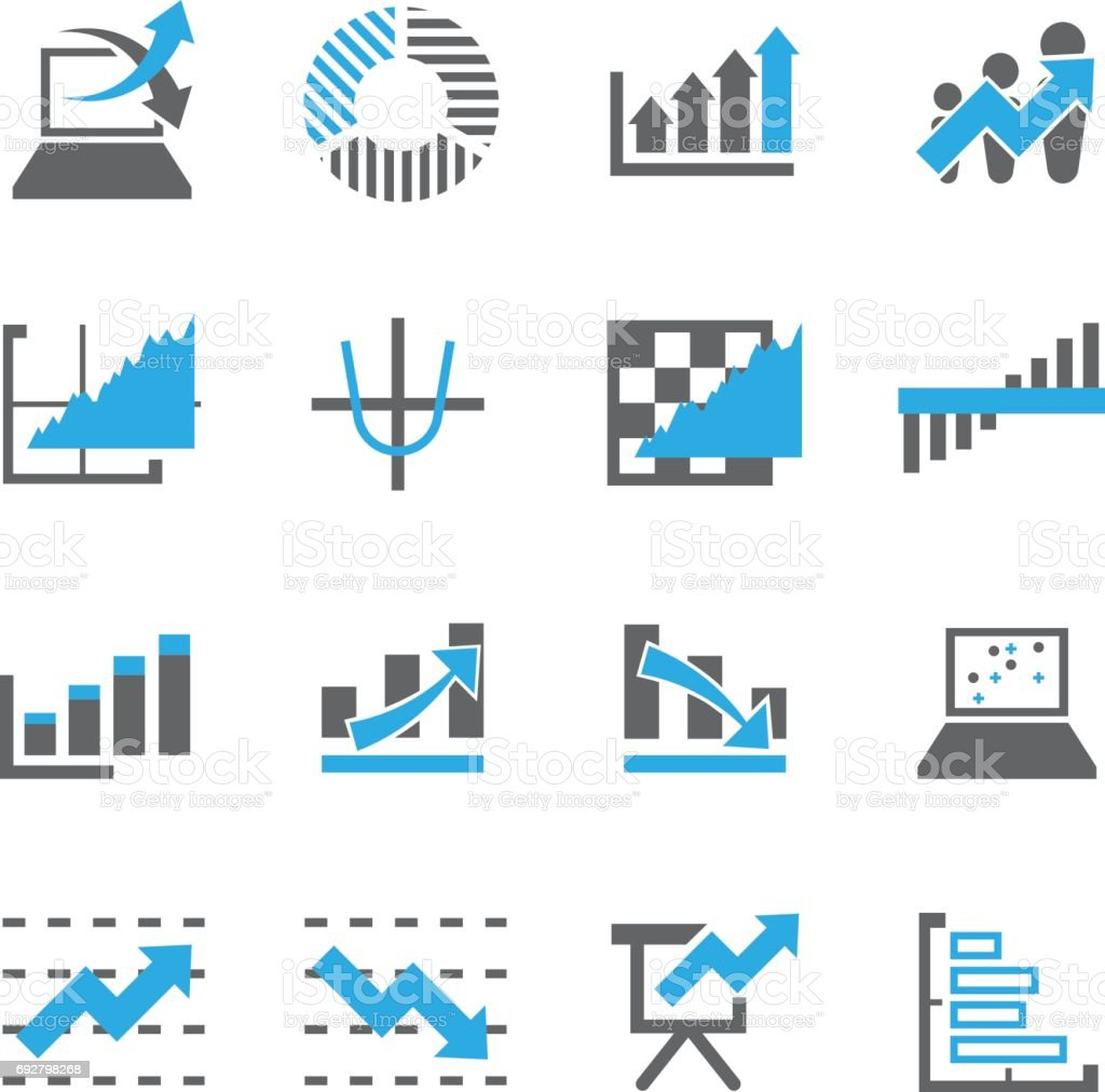 Graph Icon Vector For Business Commercial Market Stock ...