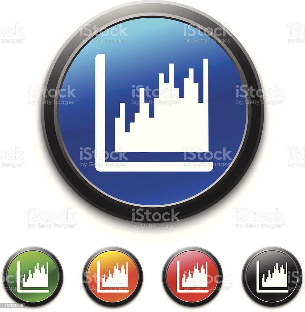 Graph icon royalty-free stock vector art