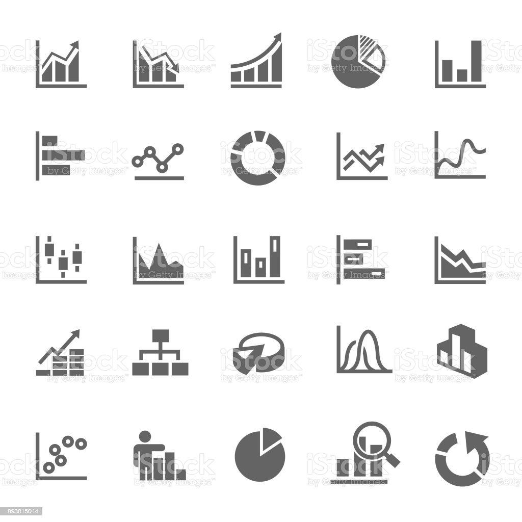 Icône de graphique - Illustration vectorielle