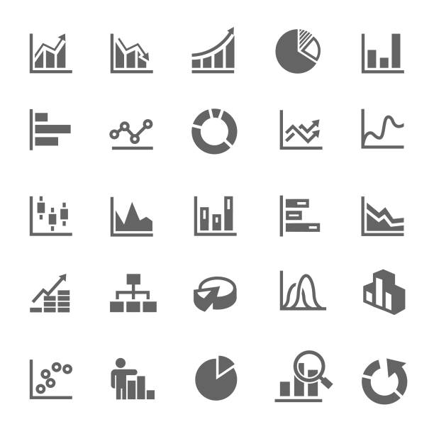 graph icon - диаграмма stock illustrations