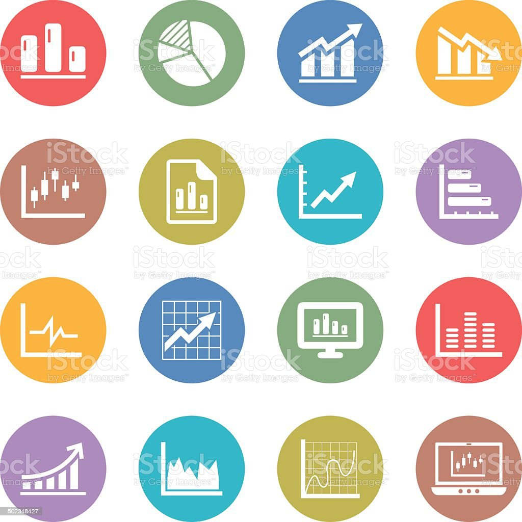 Graph Icons vector art illustration