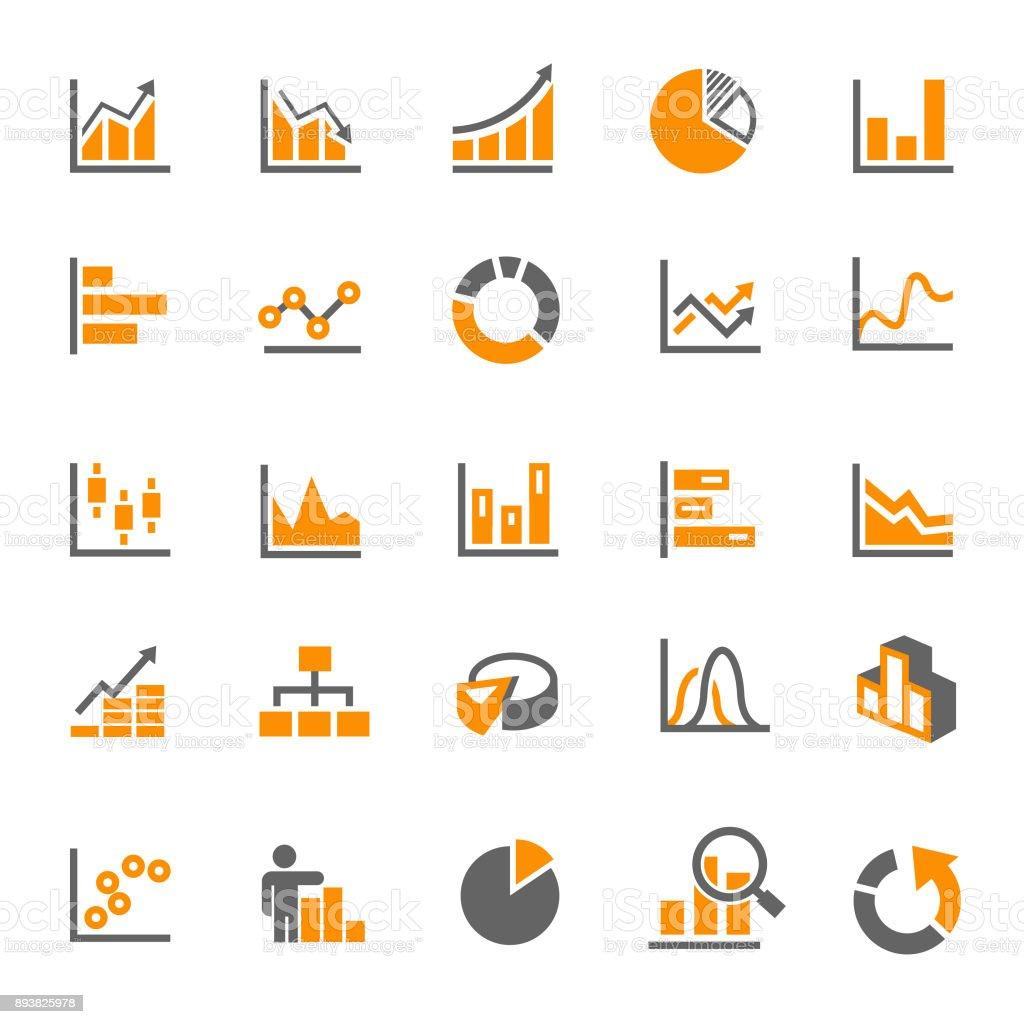 graph icons vector art illustration